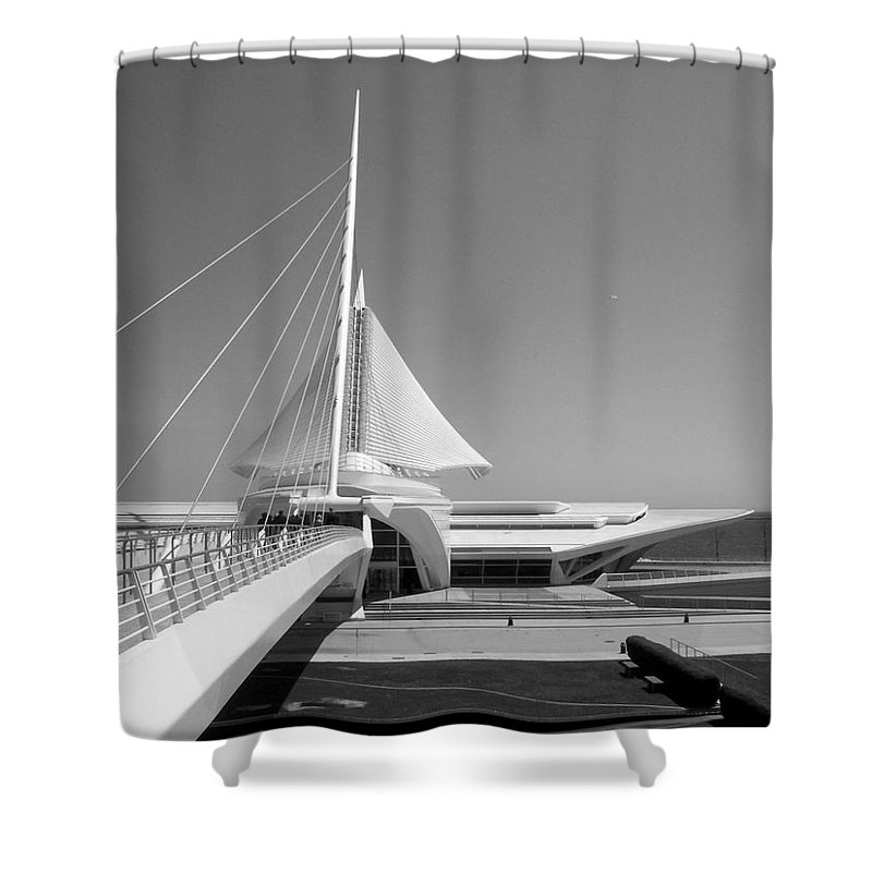 Mam Shower Curtain featuring the photograph Mam Spreading Wings B-w by Anita Burgermeister