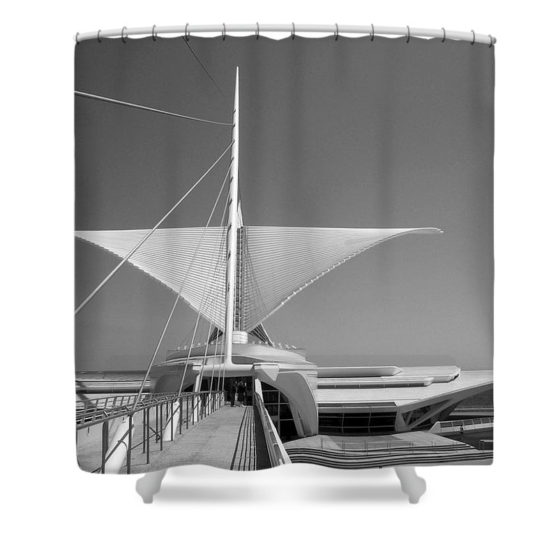Mam Shower Curtain featuring the photograph Mam Wings Spread B-w by Anita Burgermeister