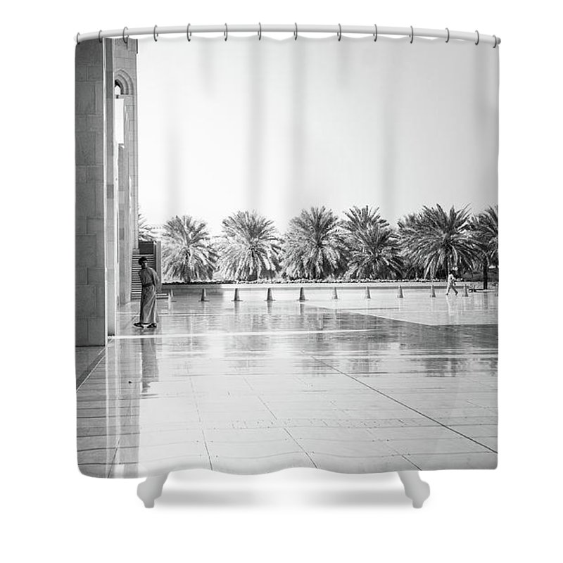 Muscat Shower Curtain featuring the photograph Man From Muscat by Christoffer Karlsson