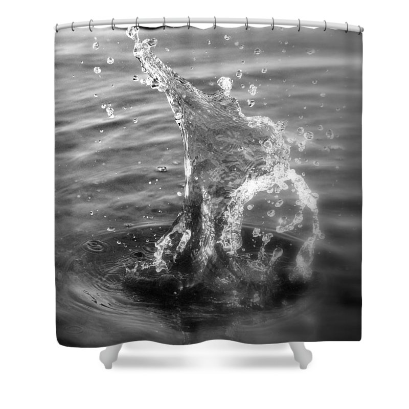 Man Of Glass Shower Curtain featuring the photograph Man Of Glass by Ed Smith