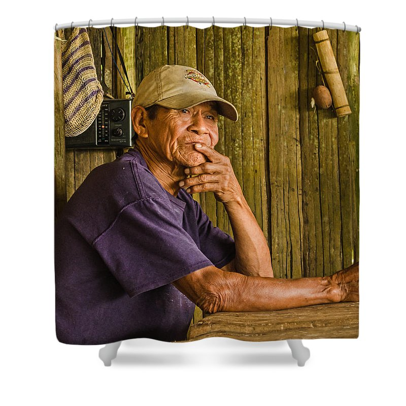 Peru Shower Curtain featuring the photograph Man Of The House by Allen Sheffield