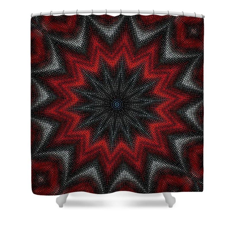 Digital Painting Shower Curtain featuring the digital art Mandala by David Lane