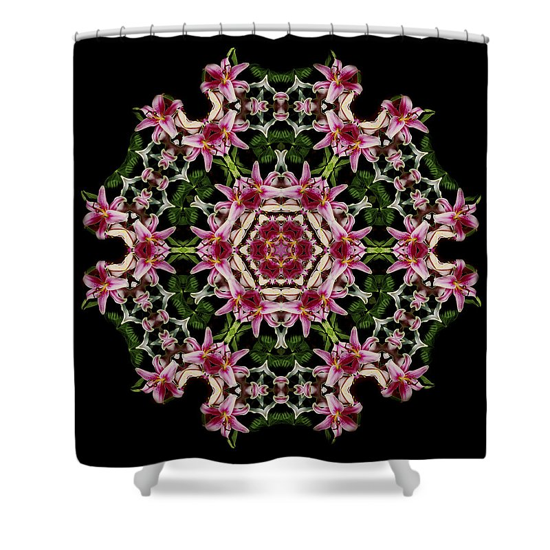 Mandala Shower Curtain featuring the photograph Mandala Monadala Lisa by Nancy Griswold