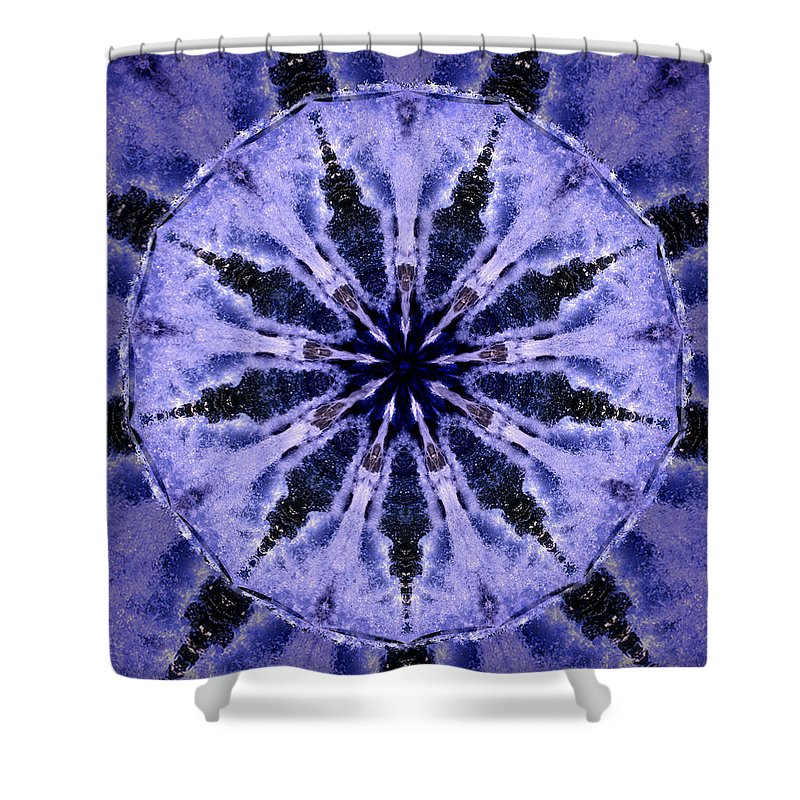 Mandala Shower Curtain featuring the digital art Mandala Ocean Wave by Nancy Griswold