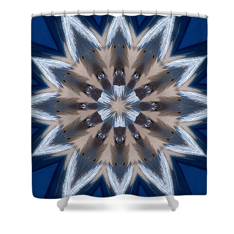 Mandala Shower Curtain featuring the photograph Mandala Sea Star by Nancy Griswold