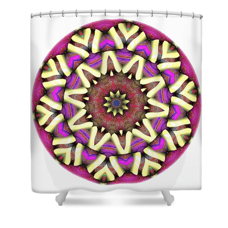 Talisman Shower Curtain featuring the digital art Mandala - Talisman 1681 by Marek Lutek