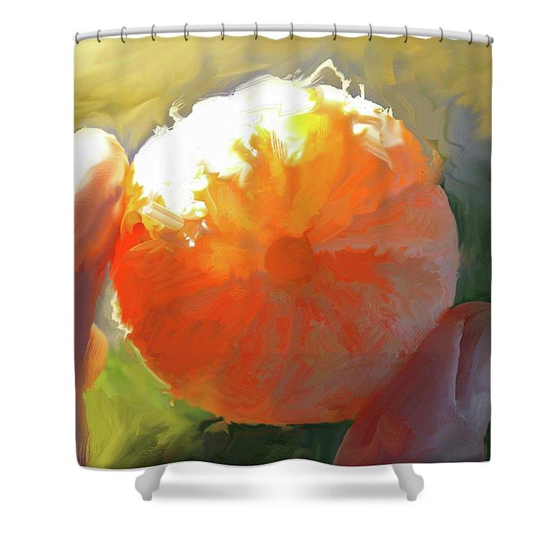 Chapline Shower Curtain featuring the digital art Mandarin by Curtis Chapline