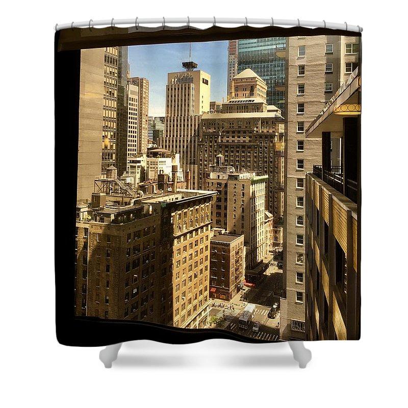 Manhattan Shower Curtain featuring the photograph Manhattan by Agnes Czekman