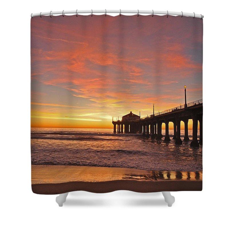 Beach Sunset Shower Curtains