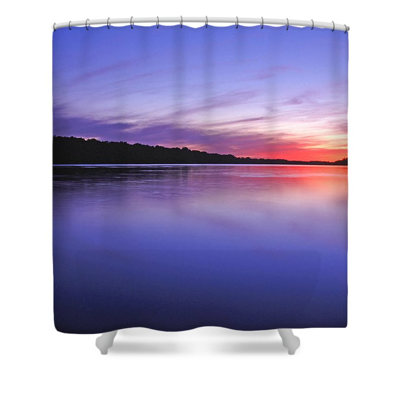 Landscape Shower Curtain featuring the photograph Manidooziibi by Bill Morgenstern