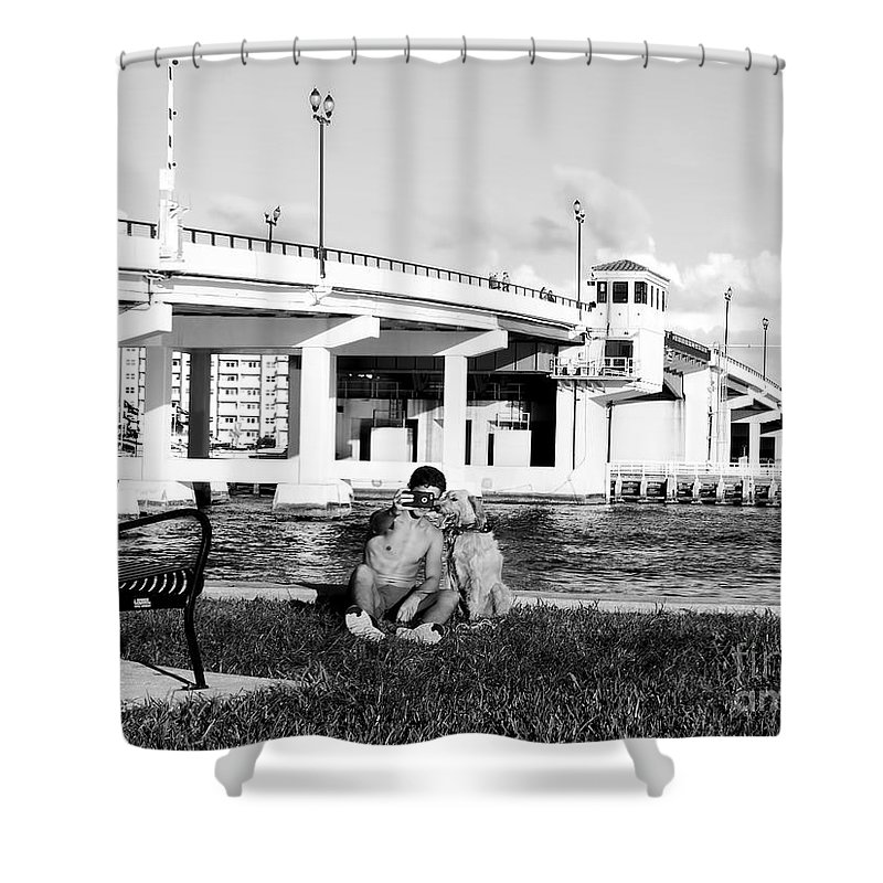 Dog Shower Curtain featuring the photograph Man's Best Friend by Carlos Amaro