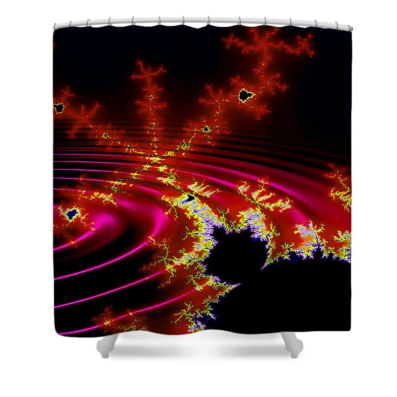 Fractal Shower Curtain featuring the digital art Mantis by Robert Orinski