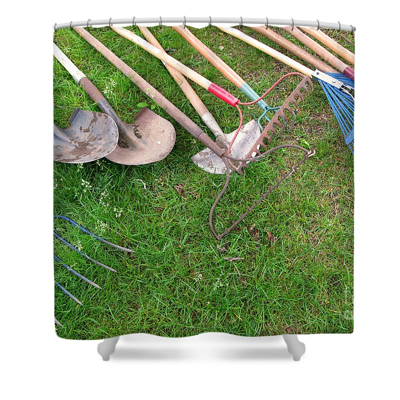 Tools Shower Curtain featuring the photograph Many Hands Make Light Work by Ann Horn