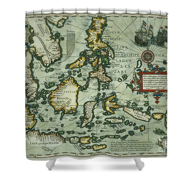 Map Of The East Indies Shower Curtain For Sale By Dutch School