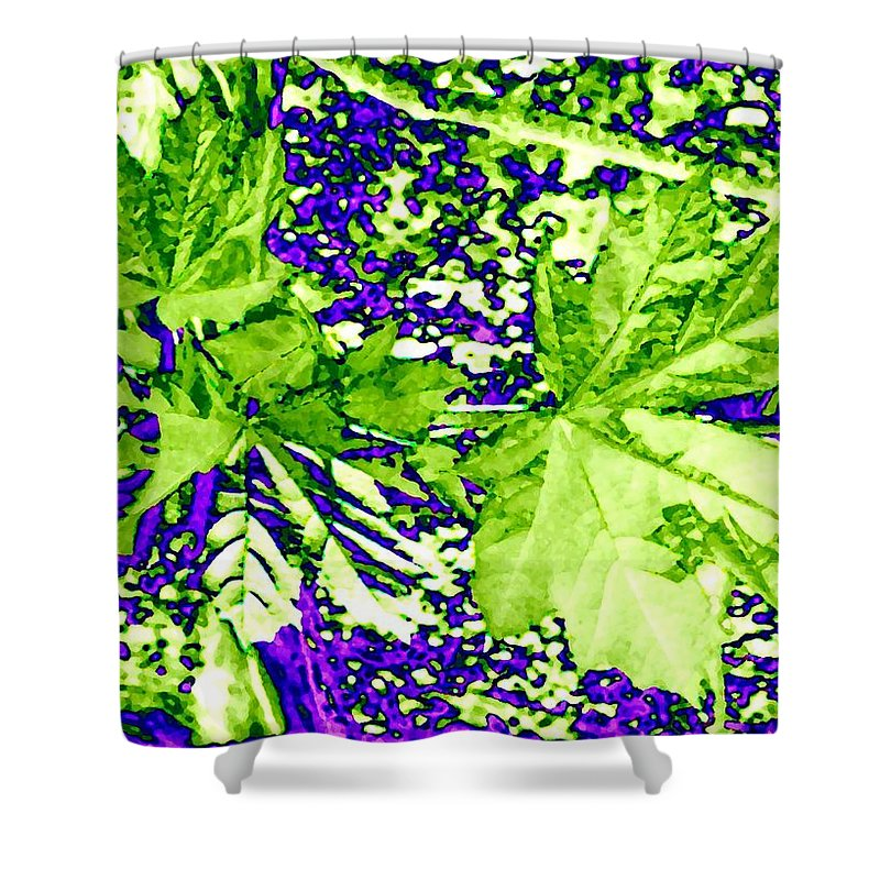 Maple Leaves Shower Curtain featuring the digital art Maple Mania 19 by Will Borden