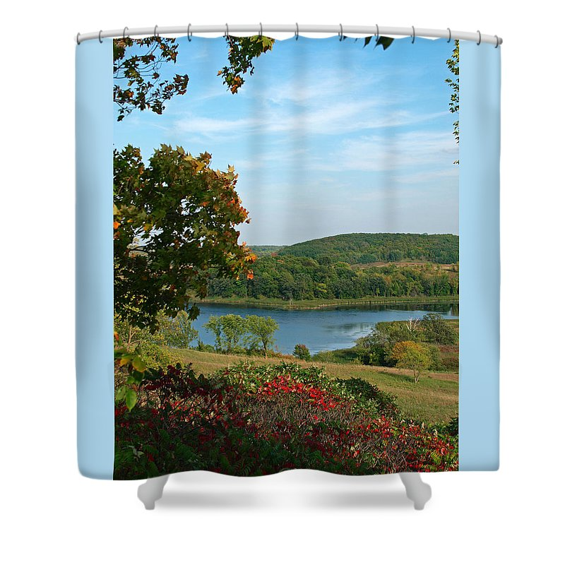 Peterson Nature Photography Shower Curtain featuring the photograph Maplewood State Park by James Peterson