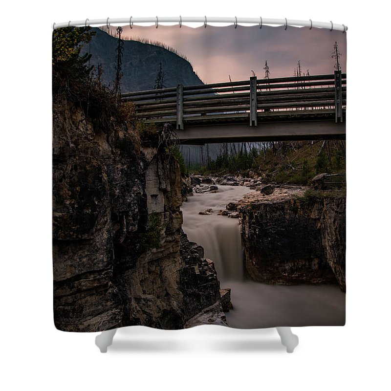 Canadian Rockies Shower Curtain featuring the photograph Marble Canyon by Todd Carriveau