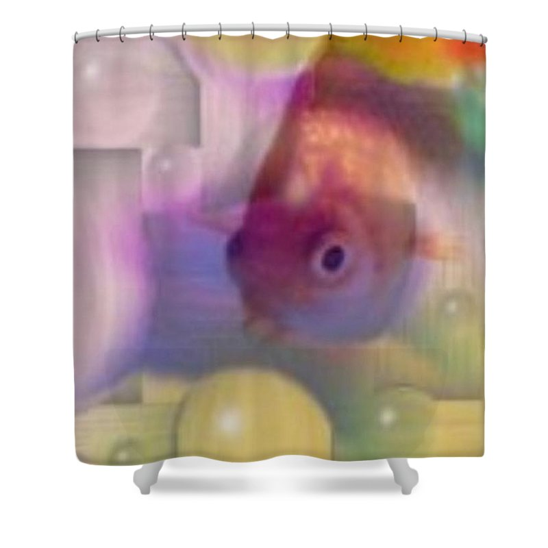 Fish Shower Curtain featuring the photograph Marble Fish by Tim Allen