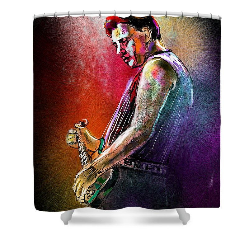Marc Pearson Portrait Shower Curtain featuring the digital art Marc Pearson by Miki De Goodaboom