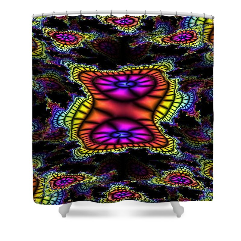 Mardi Gras Shower Curtain featuring the photograph Mardi Gras Fractal by Tim Allen