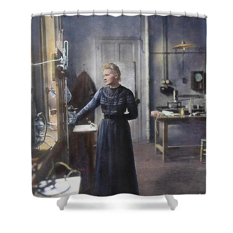1908 Shower Curtain featuring the photograph Marie Curie (1867-1934) by Granger