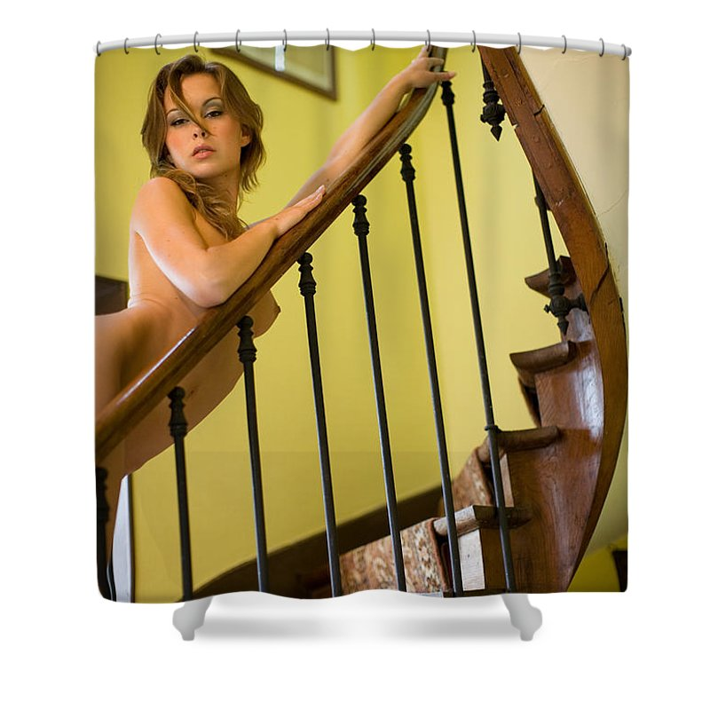 Sensual Shower Curtain featuring the photograph Marie by Olivier De Rycke