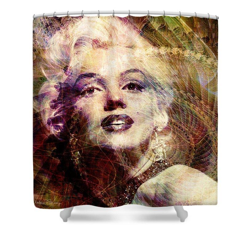 marilyn Monroe Shower Curtain featuring the digital art Marilyn by Barbara Berney