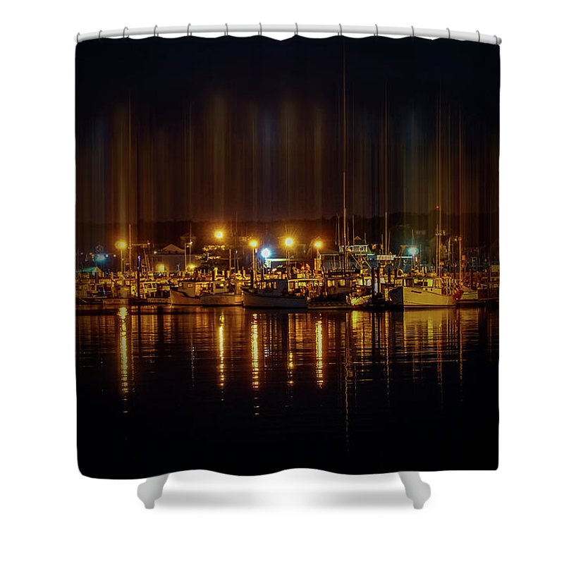 Marine Shower Curtain featuring the photograph Marine At Night by Lilia D