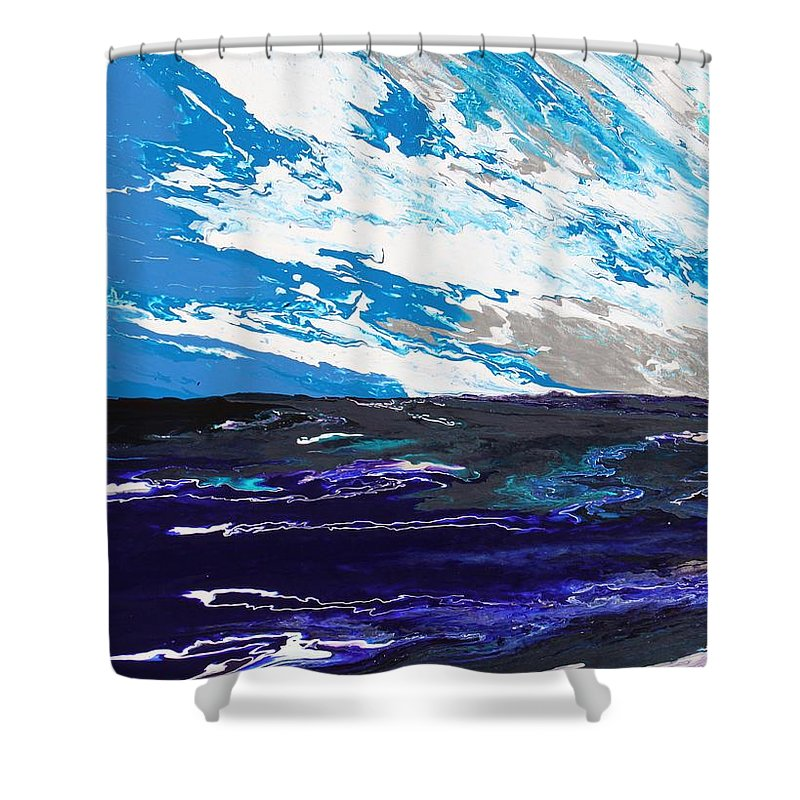 Fusionart Shower Curtain featuring the painting Mariner by Ralph White
