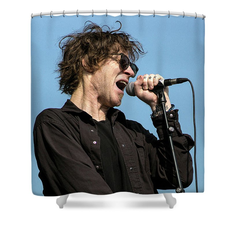 Mark Shower Curtain featuring the photograph Mark Lanegan - 001 by Olivier Parent