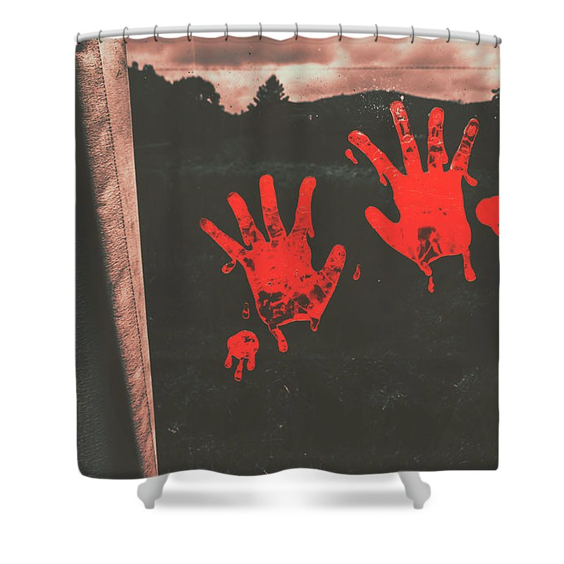 Mark Of Murder Shower Curtain For Sale By Jorgo Photography