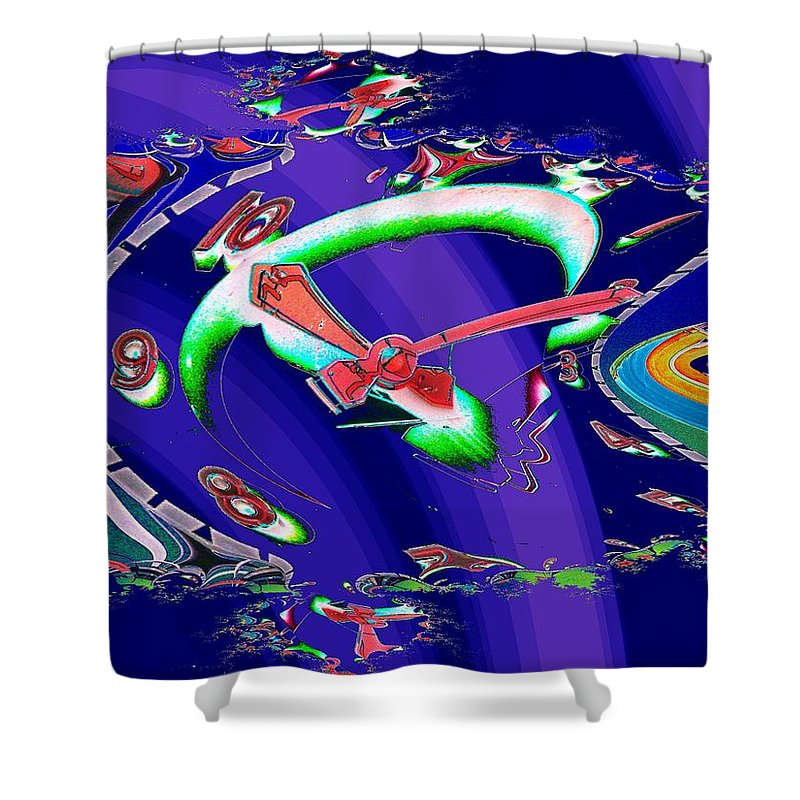 Seattle Shower Curtain featuring the photograph Market Clock In Fractal by Tim Allen