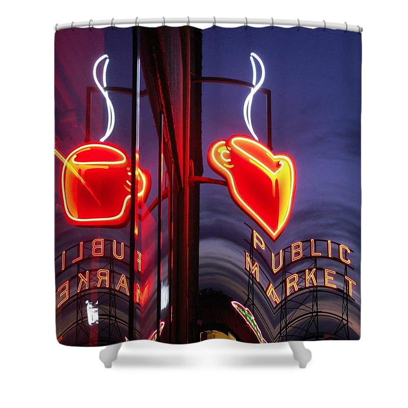 Seattle Shower Curtain featuring the photograph Market Cup 2 by Tim Allen