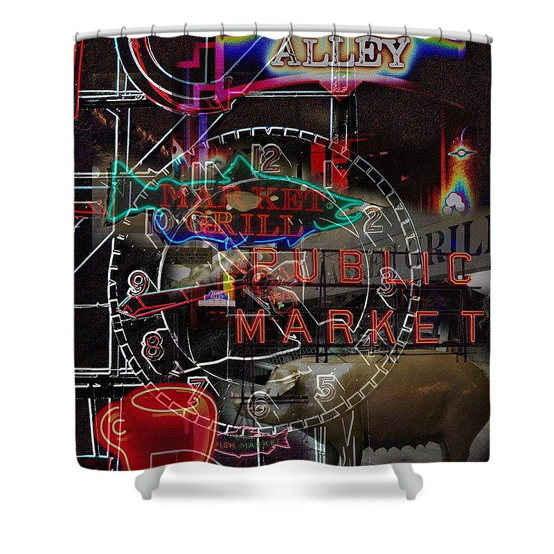 Seattle Shower Curtain featuring the photograph Market Medley by Tim Allen