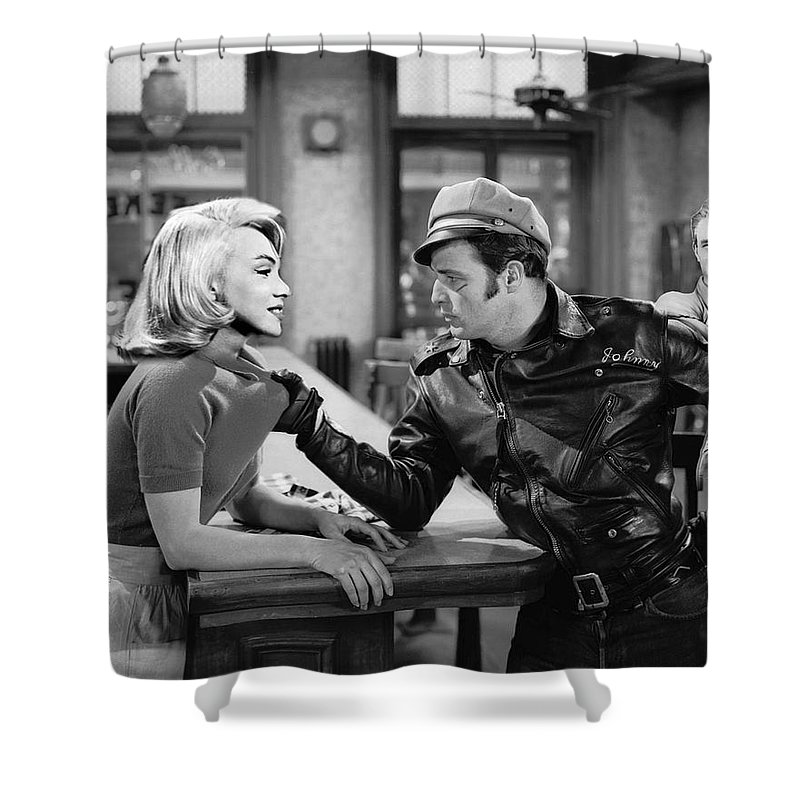 Marlon Brando James Dean Marilyn Monroe Tough Guys Shower Curtain