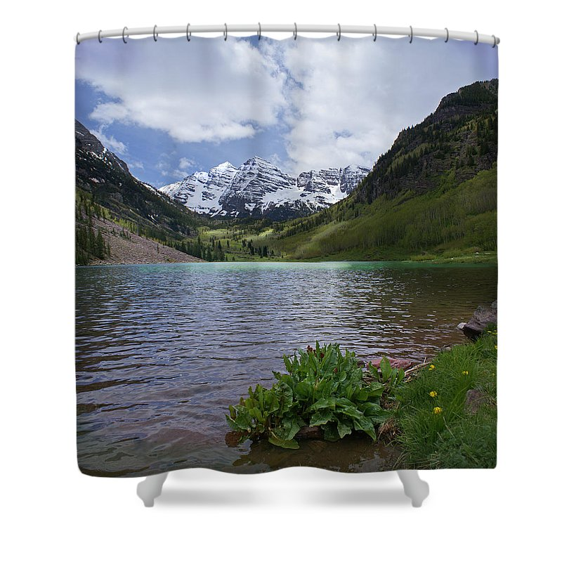 Aspen Shower Curtain featuring the photograph Maroon Bells Spring by Heather Coen