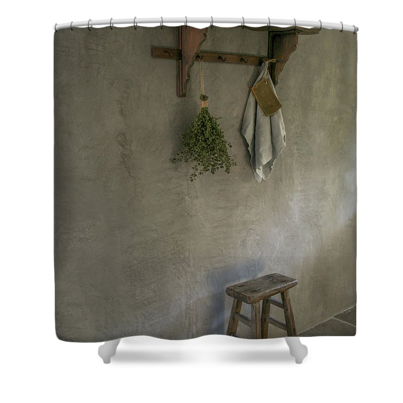 Pure & Original Marrakech Walls Colour Elephant Skin Shower Curtain featuring the painting Marrakech Walls by Pure Original