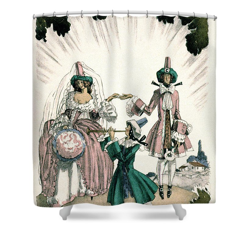 18th Century Shower Curtain featuring the photograph Marriage Of Candide by Granger