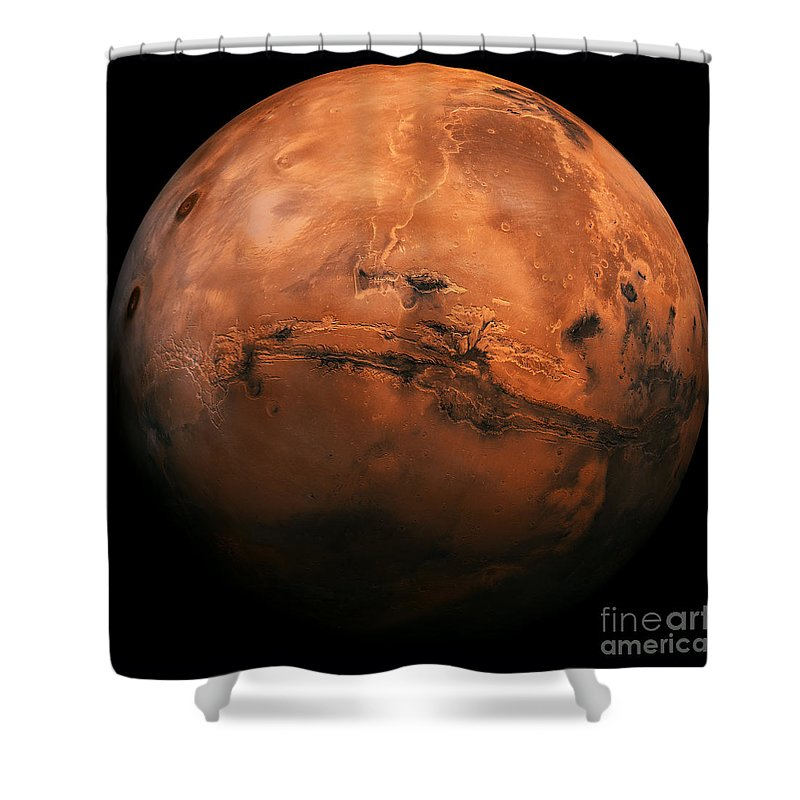 Mars The Red Planet Shower Curtain For Sale By Edward Fielding