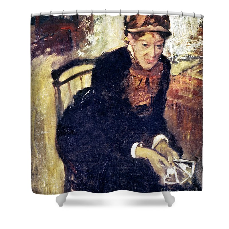 1880 Shower Curtain featuring the photograph Mary Cassatt (1845-1926) by Granger