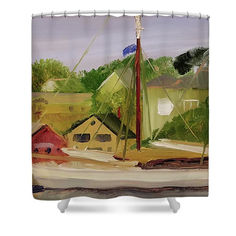 Mary Day Shower Curtain featuring the painting Mary Day by Susan Hanna