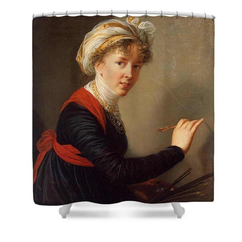 Mary Elizabeth Louise Vigee-lebrun (french Portraitist Shower Curtain featuring the painting Mary Elizabeth Louise by MotionAge Designs
