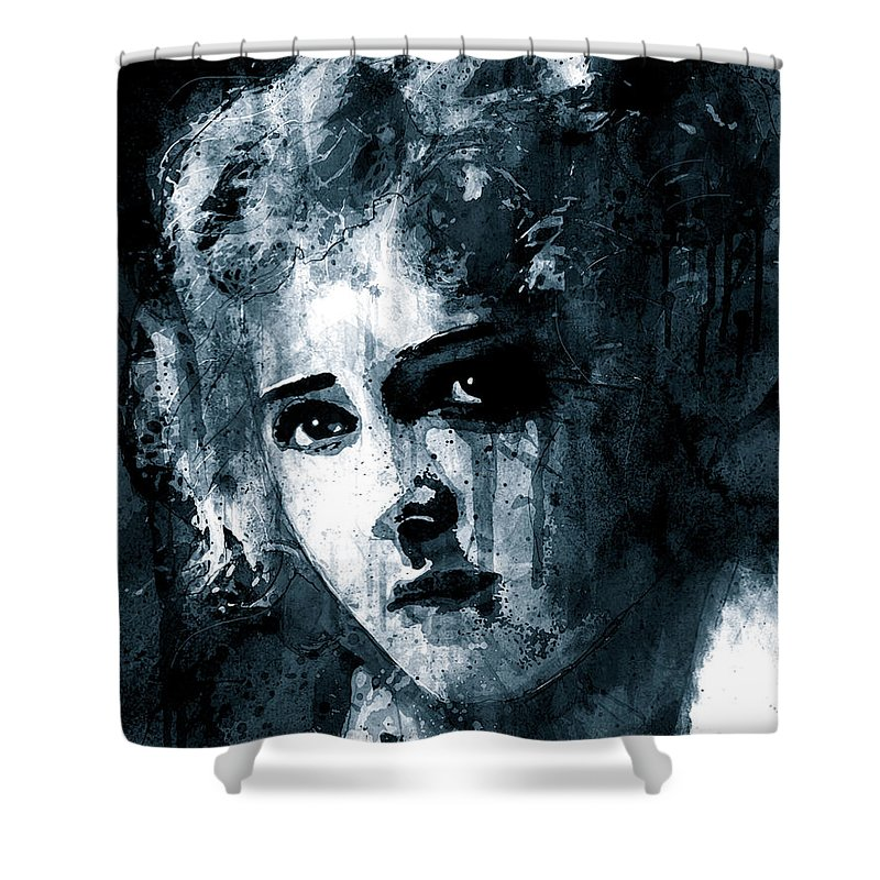 Mary Pickford Shower Curtain featuring the digital art Mary Pickford by Gary Bodnar