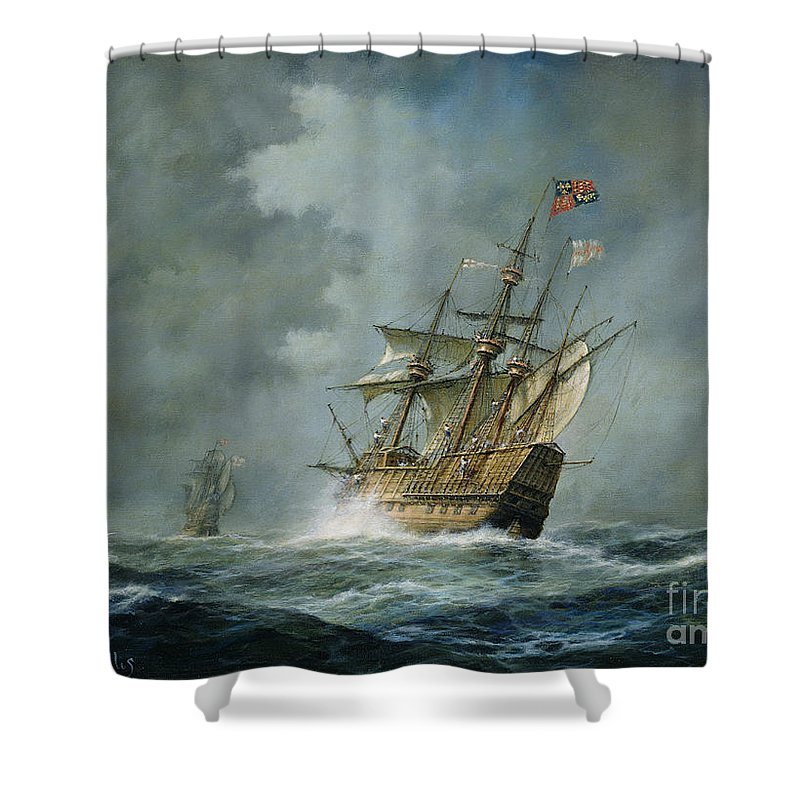 Mary Rose Shower Curtain featuring the painting Mary Rose by Richard Willis