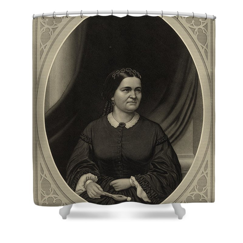 Government Shower Curtain featuring the photograph Mary Todd Lincoln, First Lady by Science Source