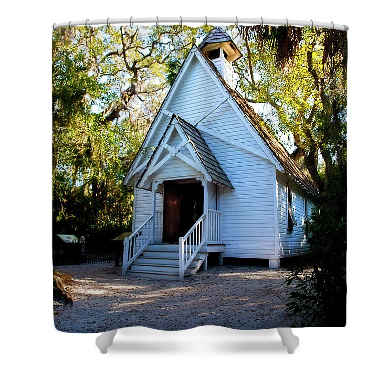 Church Shower Curtain featuring the photograph Mary's Chapel by David Arment
