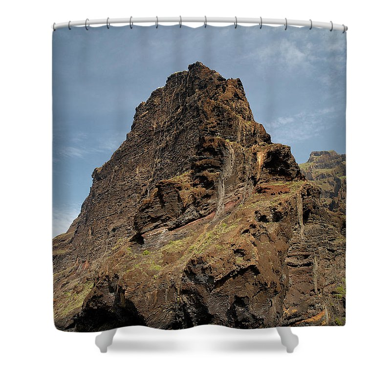 Valasretki Shower Curtain featuring the photograph Masca Valley Entrance 3 by Jouko Lehto