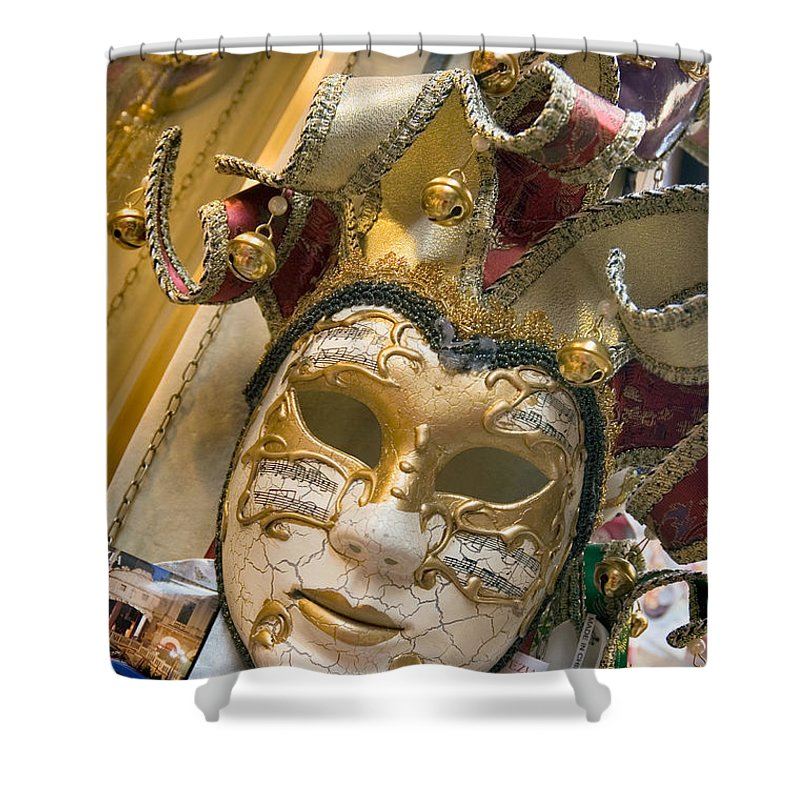 Mask Shower Curtain featuring the photograph Masks For Sale - Venice, Italy by Dan Nourie