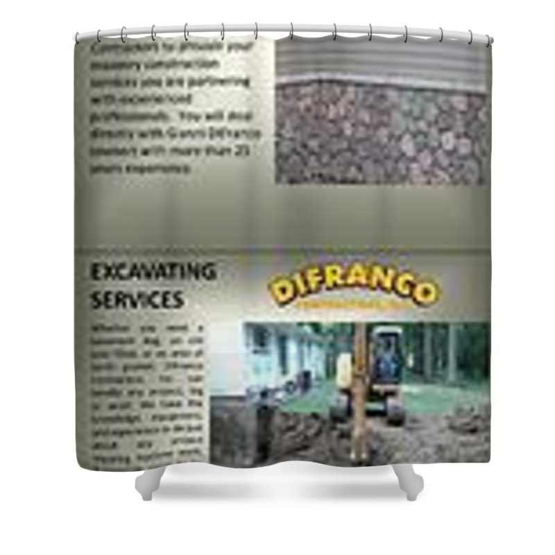 Excavating Services Shower Curtain featuring the photograph Masonry Contractor Services by Gianni DiFranco