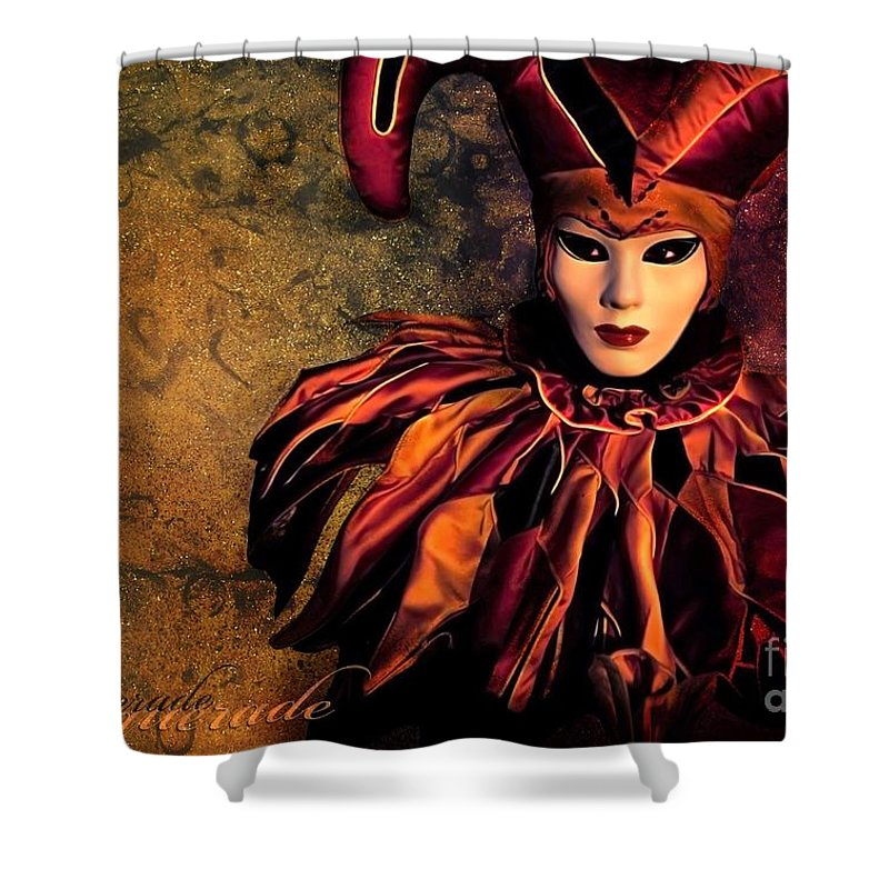Mask Shower Curtain featuring the photograph Masquerade by Jacky Gerritsen